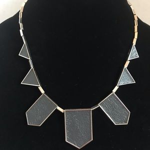 House of Harlow station necklace silver and grey